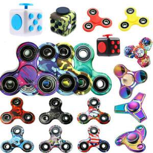 Fidget Finger Spinner Hand Focus Ultimate Spin EDC Bearing Stress Toys UK Seller