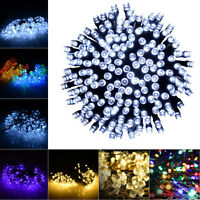30/50/100/200 LED String Solar Light Outdoor Garden Xmas Party Fairy Tree Lamp