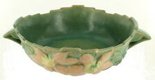 Roseville Pottery Clematis Console Bowl Pink Flowers 457‒8