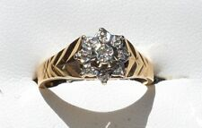 9ct Yellow Gold & Diamond Designer Ring - as new
