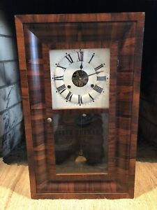 19th c. SETH THOMAS OGEE WALL/MANTLE CLOCK VERY CLEAN AND RUNNING