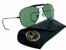 Ray-Ban Aviator Sunglasses RB3030 Outdoorsman L9500 Black Frame Green G15 Lens