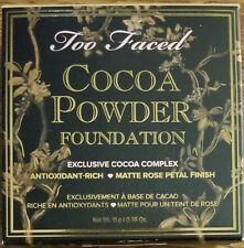 Too Faced Cocoa Powder Foundation *TAN ot DEEP TAN* 0.38oz 11g FULL SIZE NIB