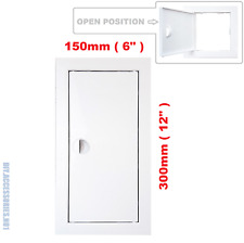 Access Panel Fit Hole 150 x 300 mm  White Inspection Hatch Door With Pull Handle