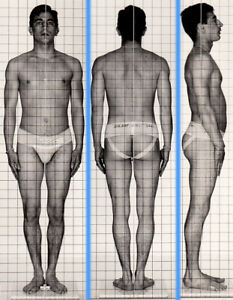 TINY SWARTHY STUDLY ~1940s 5x7 NAVY ID PHOTO NEAR NUDE JOCK SAILOR MAN gay #207