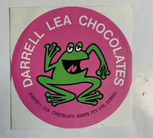 Vintage 70s DARRELL LEA CHOCOLATES STICKER Australian grocery shop confectionary