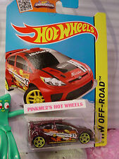 Case E 2015 i Hot Wheels '12 Ford Fiesta #78∞maroon;Yellow pr5;21∞Road Rally