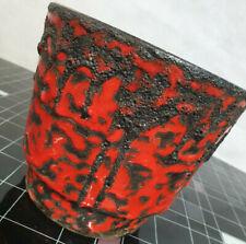 Mid Century Vintage Fat Lava, Übertopf, Pflanztopf, Blumentopf Rot