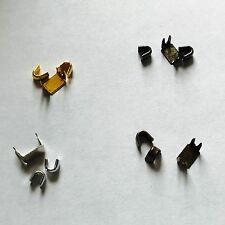 ZIP ZIPPER STOP STOPPER TOP & BOTTOM CLIPS REPAIR SET 5 FINISHES SIZES 3 5 8 10