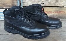 THOROGOOD Black Leather Steel Toe Tactical Biker Work Mechanic Boots Men's 8.5M