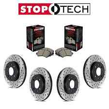 Ford Mustang Complete Front and Rear Disc Brake Rotors & Sport Pads StopTech Kit