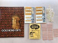 Vintage Retro Gold Bond Gift Catalog, Full Stamp Book, 2 Partial Books, Stamps