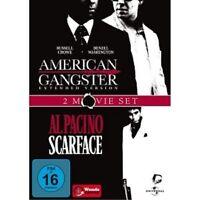 AMERICAN GANGSTER & SCARFACE - 2 DVD NEUWARE DENZEL WASHINGTON,RUSSELL CROWE