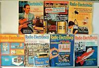 Lot of 7 Radio Electronic Magazines 1966 Issues