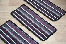 14 Stripey Staircase Carpet Pads Stair Treads Broadway Purple Stripe Pad