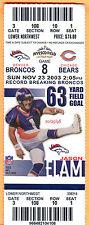 11/23/03 BRONCOS/BEARS FULL TICKET
