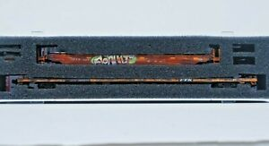 TTX Wreck Recovery. N Scale. 89' Flat/Well Car Load. Weathered & Graffiti. MTL