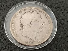 More details for 1819 lx george iii sterling silver crown fair condition