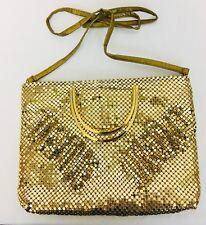 NWOT Vintage 80's 3D Gold Mesh Disco Bag Purse Clutch.