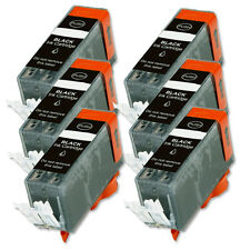 6 BLACK Ink Replacement w/ Chip for PGI-220 Canon iP4700 MP560 MP620 MP640 MX870