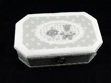 Supporto in legno gioielli portagioie scatola DECORAZIONE CASA SHABBY CHIC colore grigio ORSI