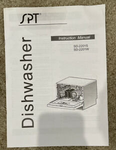 SPT Portable Dishwasher Instruction Manual SD-2201S & SD-2201W Booklet Only