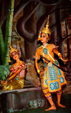 Postcard  Chrome Bangkok Thailand Lakorn Ram Thai Classical Dance