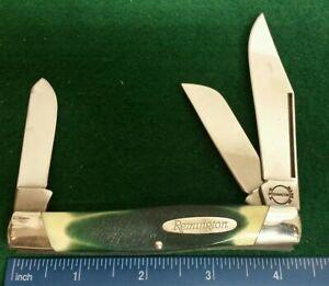 Remington USA 9501 Large Stockman knife, sawcut Green delrin handles