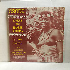 "CK MANN & BOB COLE funk LP OSOM ""Osode African Hot Highlife Rhythms"" orig NICE!"