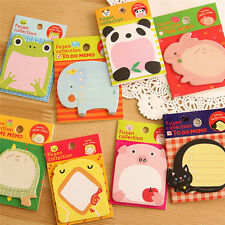 8Pcs Cute Animal Sticker Office Post-It Bookmark Point Marker Memo Sticky Notes
