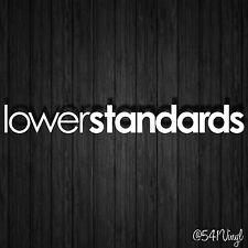 "lower standards Vinyl 9"" Decal illest funny car sticker fatlace jdm classy euro"