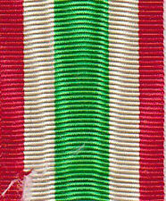 Nastrino per la medaglia dell' Unità d'Italia 1848/1870 (largh. 34 mm.)