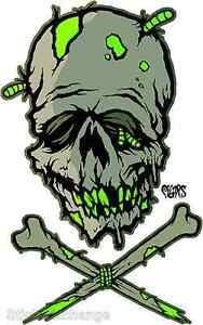 Zombie Skull Sticker Decal Artist Eric Pigors PG42