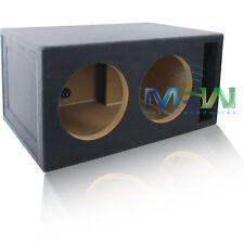 "4 CU. FT. CUSTOM-VENTED DUAL 12"" MDF CAR SUBWOOFER BOX ENCLOSURE - TUNED @ 32Hz"