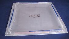 Modern - Millenium Matzah Plate - Sara Beames - Hand Made - Frosted Glass
