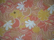 Ancien coupon de tissus fleurit Vintage - linge ancien