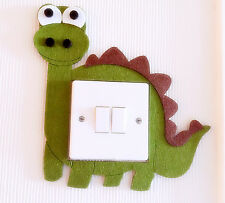 Super Cute 3D Dinosaur Light Switch Wall Sticker Kids Boys Girls Nursery Bedroom