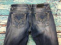 """9J-Women's VIGOSS """"The Dublin Boot Cut"""" Bling Jeans  Sz 7 (30x32)"""
