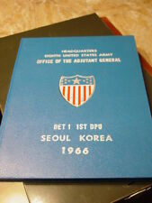 1966 Yearbook HQ 8th Army Adjutant General Office Seoul Korea Det 1 1st DPU