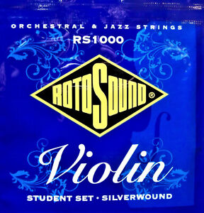 Rotosound Student Violin Strings Silverwound. Set. Silked. RS1000