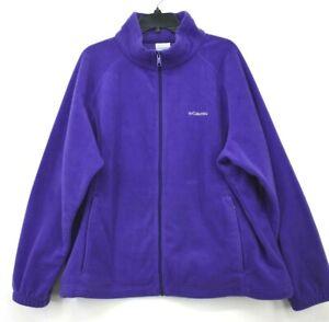 Columbia Mens Full-Zip Elastic Cuffs Zipper Pocket Sportswear Fleece Jacket 3X