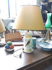 paire de lampes faience