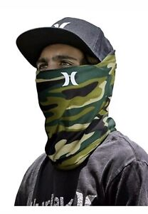 Hurley Lightweight Neck Gaiter Face Mask One Size Camo