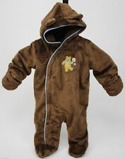 Disney Winnie The Pooh Brown Footed Fuzzy Pram Size 3-6 Months NWT