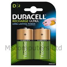 2 x Duracell Recharge Ultra D Batteries NiMH 3000mAh/1.2V