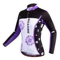 Women's Cycling Jerseys Breathable Bike Wear Clothing Girls Cycle T-shirt Purple
