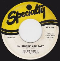 "KENZIE MOORE - ""I'M BEGGIN' YOU BABY"" / ""MY BABY'S GONE AGAIN"" on SPECIALTY  VG+"