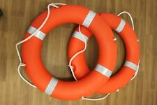"""2 x Lifebuoy Life Ring 30"""" with Reflective Tape and Solas Approved Free Postage"""