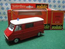 Vintage  CITROEN C35 Services Departemental  d'incendie  - 1/50 Solido VSAB 368