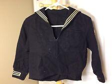 Vintage US Navy Wool Felt Uniform Shirt Naval Clothing Factory Size Extra Small
